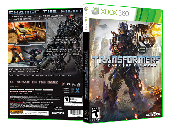 XBOX 360 TRANSFORMERS DARK OF THE MOON NIP