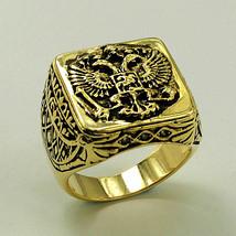Russian Coat Of Arms Signet Men's Copper Cubic ... - $10.73