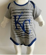 Majestic Kansas City KC Royals 6 to 9 months Baby One Piece Blue Gray Bo... - $10.39