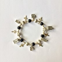 NWOT Foley's Stretch Charm Bracelet Christian S... - $18.05