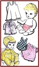 """Vintage Cloth Doll Pattern for 15"""" Baby Doll with Layette - $5.99"""