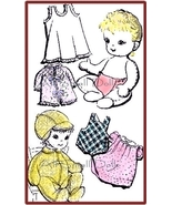 "Vintage Cloth Doll Pattern for 15"" Baby Doll with Layette - $5.99"