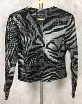 Selene Sport WOMEN'S ANIMAL PRINT  JACKET Size 6 Polyvinyl Nwt. 231 - $20.53
