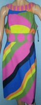 MUSE Sz 6 Mod Dress Party NWT Unique Funky Abstract Art Style - $24.52