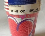 Amscan Modern Love Valentines Day Party Cups w Hearts 9 oz Hot Cold Pack of 8