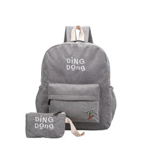Corduroy Travel Bag Schoolbag Teenage Girls Boy... - $14.89