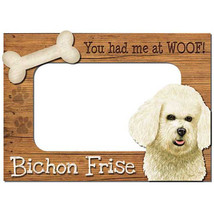 Bichon Frise 3-D Wood Photo Frame - $14.95
