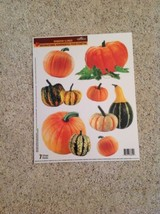 Static Window Clings New Thanksgiving Fall Autumn Pumpkin Gourd Set 7 - $8.81