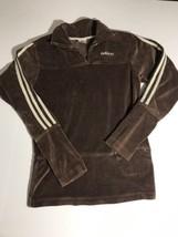 Vintage Adidas Womens Brown Velour 1/4 Zip Pull... - $64.39
