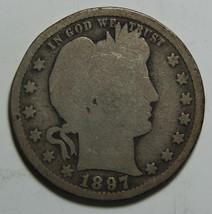 1897S Barber Quarter 25¢ Silver Liberty Head Coin Lot# MZ 3335