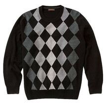 New Men's Dockers Diamond Pattern Sweater Retail $50 Black or Marine Blue - $25.00
