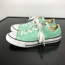 Converse All Star Chuck Taylor-  youth Sz 3,  Mint Green canvas shoes. Nice! image 3