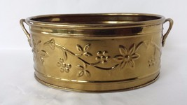 "7"" Oval Brass Planter Hosley - $21.03"