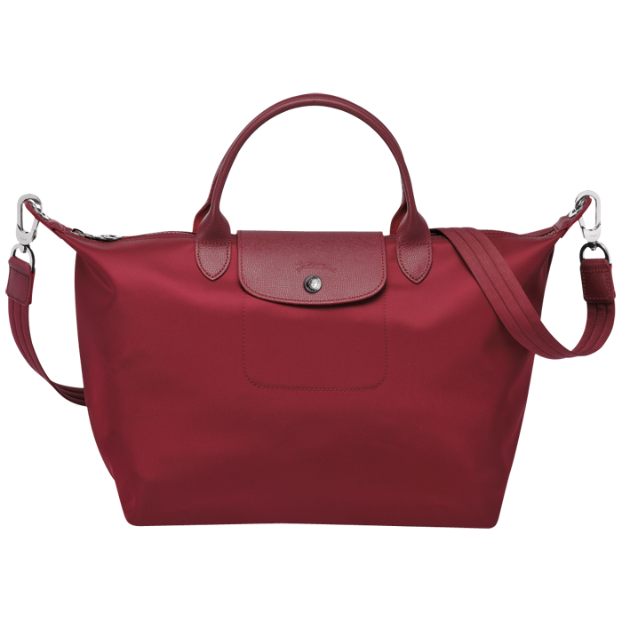 Longchamp Le Pliage Neo Nylon Red Handbag with Shoulder Strap Size Medium 4465b586a5840