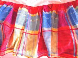 Ralph Lauren Plaid Queen Bed Skirt Dust Ruffle Madras - $39.99