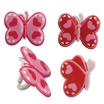 Oasis Supply Assorted Colors Cupcake/Cake Decorating Rings, 1-1/2-Inch, Heart... - $2.00