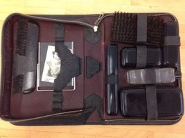 Vintage Mens Travel Toiletry Grooming Kit Zippe... - $24.74