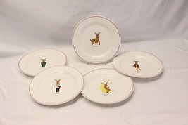 Rainbow Mountain Reindeer Dessert Salad Plates Set of 5 - $35.27
