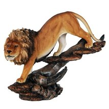 "12"" Prideful king of The Jungle Savannah Lion Wildlife Home Figurine Pri... - £31.32 GBP"