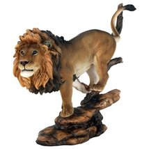"10 3/4"" Pride Rock King of The Jungle Savannah Lion Wildlife Home Statue Simba - $29.70"