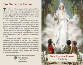 Our Lady of Fatima Prayer Card image 2