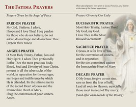 Our Lady of Fatima Prayer Card image 3