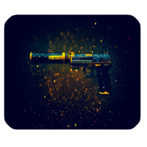 Mouse Pad CS GO Pistol Paint Air Soft Guns Beautiful Elegant Design Anim... - $9.50