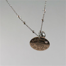 925 RHODIUM SILVER NECKLACE WITH CAT KITTEN PUPPY AND BELL PENDANT image 3