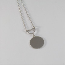925 RHODIUM SILVER NECKLACE FOOTPRINT OF A PAW AND MOTHER OF PEARL image 3