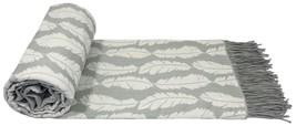 anhängend Feder Silber cremefarben mit Quasten Überwurf Decke 140cm x 200cm - $51.52