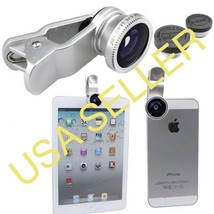 Detachable 3 in1 Clip-on Camera Fisheye+ Wide Angle + Macro Lens A2 - $4.99