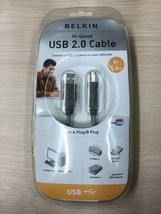 6ft Belkin Hi-Speed USB 2.0 Cable USB A Plug To B Plug F3U133v06.       ... - $6.99