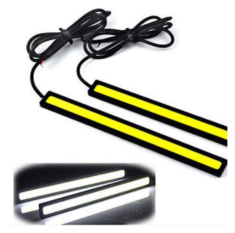Pair Of 12v Super Bright COB Car LED Lights Fog Driving Lamp 14CM Waterproof AB1