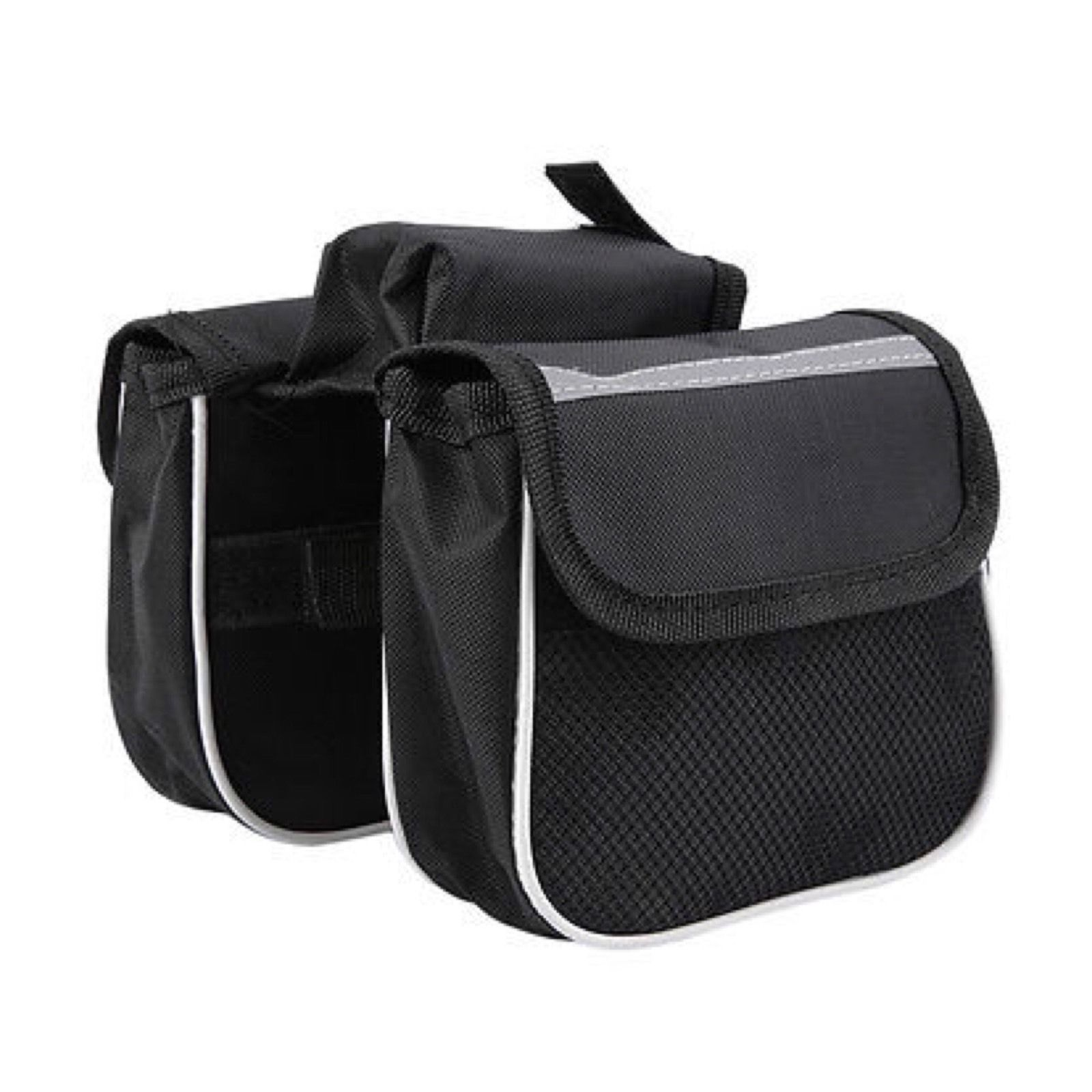 Bicycle Cycling Frame Pannier Saddle Front Tube Bag Both Side Double Pouch A8