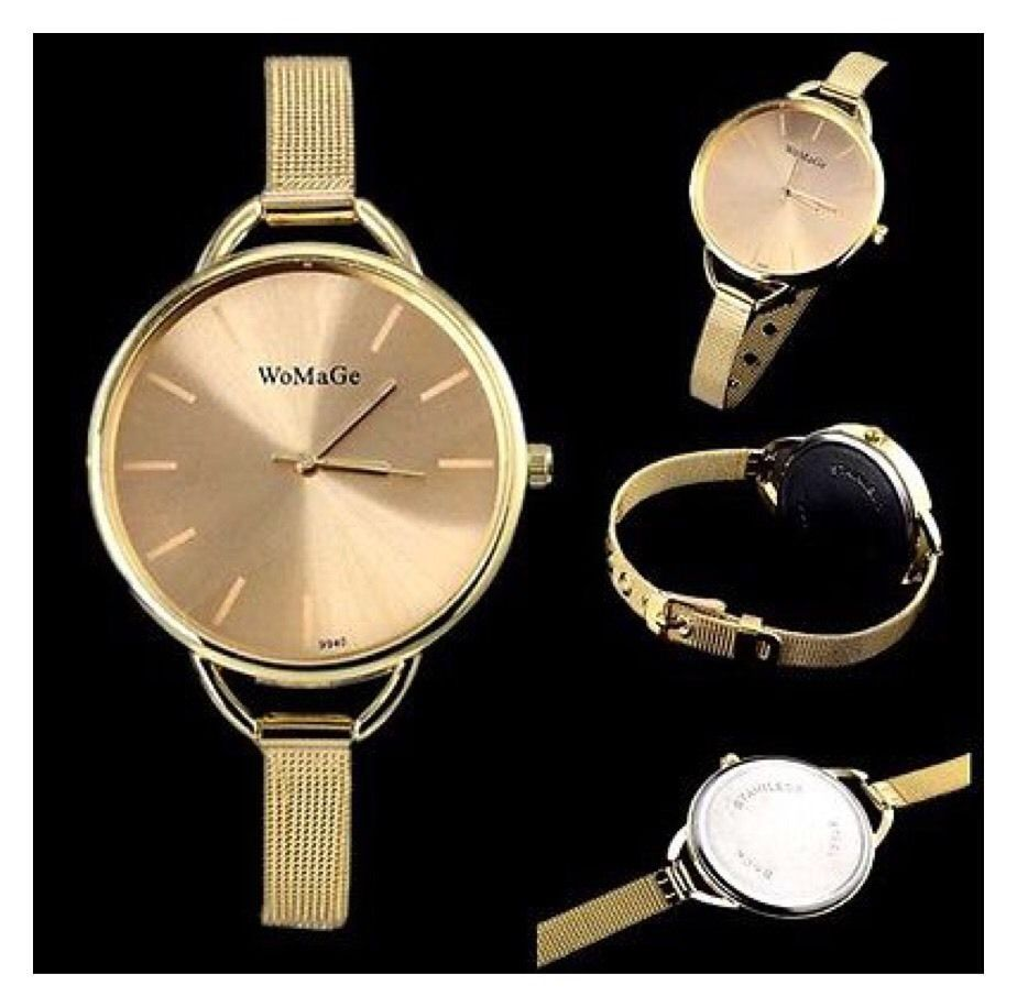 Women's Watch Quartz Stainless Steel Wrist Watch Bracelet                    B12