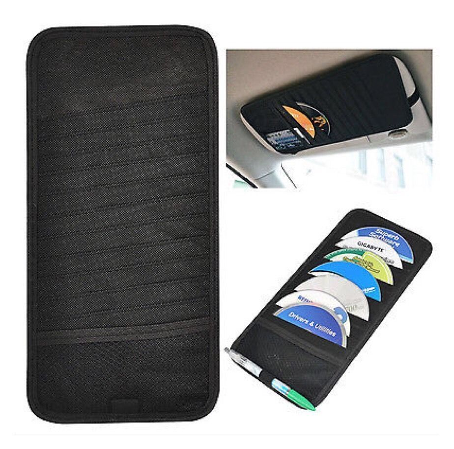 12 Disc Auto Car CD DVD Sun Visor Card Case Storage Holder  AB10