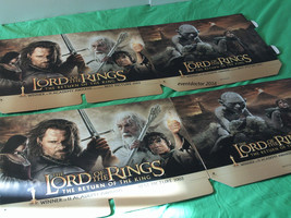 LOTR Return of the King DVD Quad  Promotional Store Display Topper Hallo... - $27.76