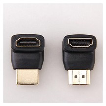 2 Pcs HDMI 270+ 90 Degree Right Angle Male to HDMI Female M/F Adapter AD5