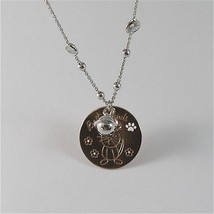 925 RHODIUM SILVER NECKLACE WITH CAT KITTEN PUPPY AND BELL PENDANT image 4