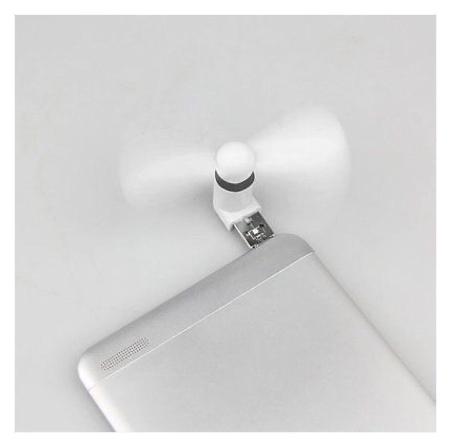 White Portable Mini Micro USB Electric Fan Phone For Android Samsung HTC LG A24