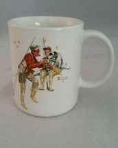 Norman Rockwell Coffee Mug Trout Dinner Dad and Son Fishing 1987 Museum ... - $9.74