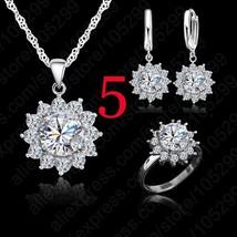 New Hot Fashion SunFlower Women Cubic Zirconia 925 Sterling Silver Penda... - $13.15