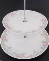 Vintage 2 Tiered Serving Dish Tidbit Appetizer NIB 1980s Porcelain Beau ... - $23.14