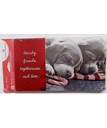 6 Puppy Photo Christmas Money Gift Card Holders & Envelopes - $3.99
