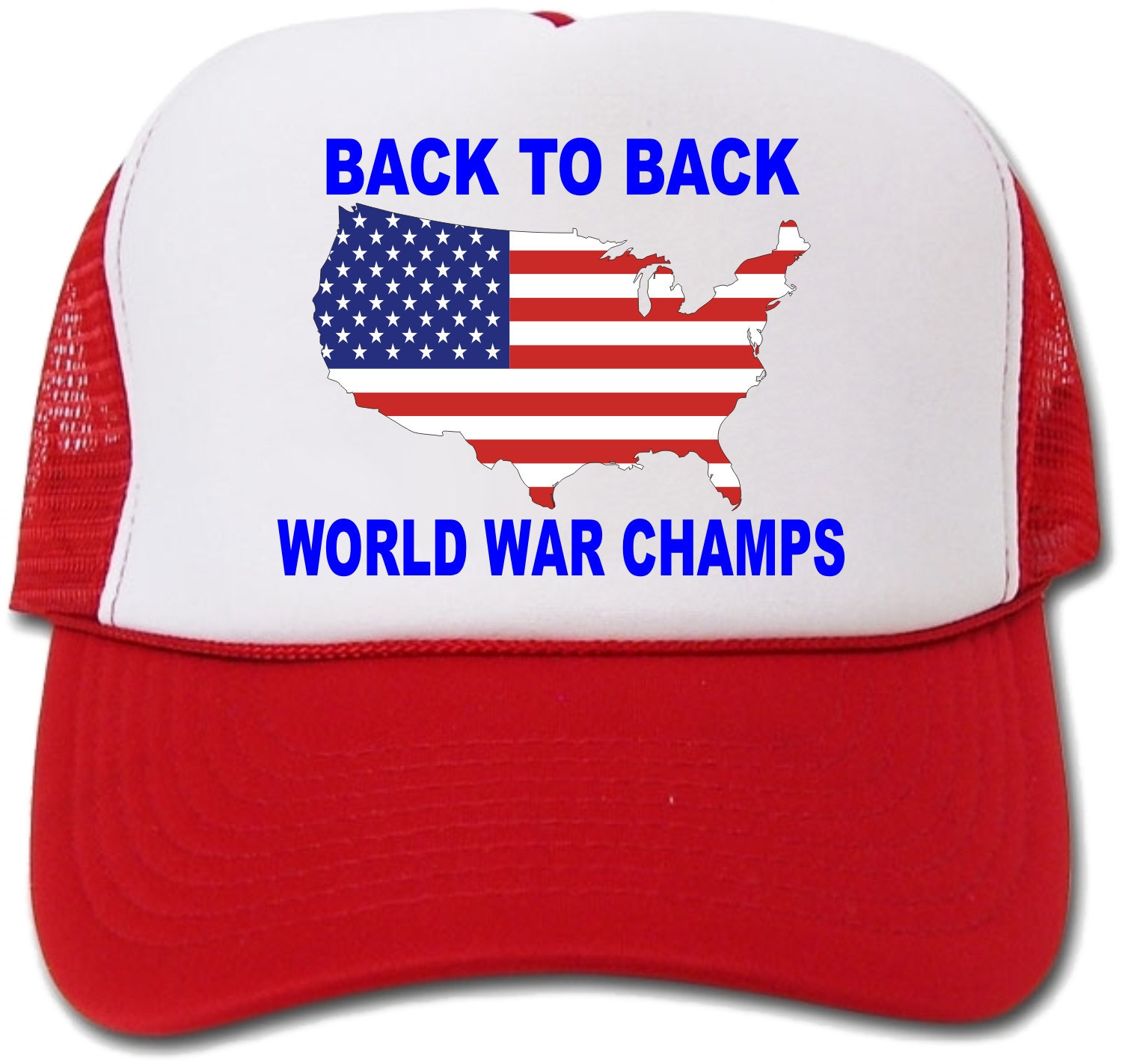 Back To Back World War Champs Flag Map Hat/Cap
