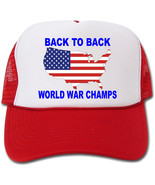 Back To Back World War Champs Flag Map Hat/Cap - $14.40