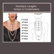 Aqua Blue Rectangle Emerald Cut Gem Stone Pendant 18K Gold Plated Chain Necklace image 7