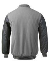 New Men's Premium Classic Snap Button Vintage Baseball Letterman Varsity Jacket image 14
