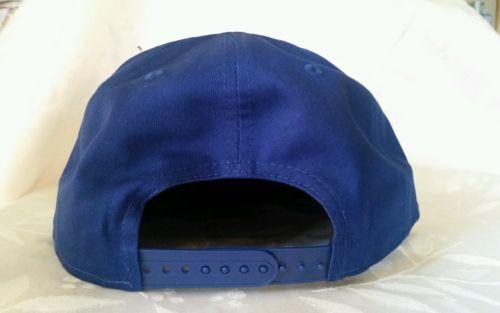 76357785 New Era 9Fifty Flat Snapback Hat Cap Blank { ROYAL BLUE } NE 9FIFTY { 1X