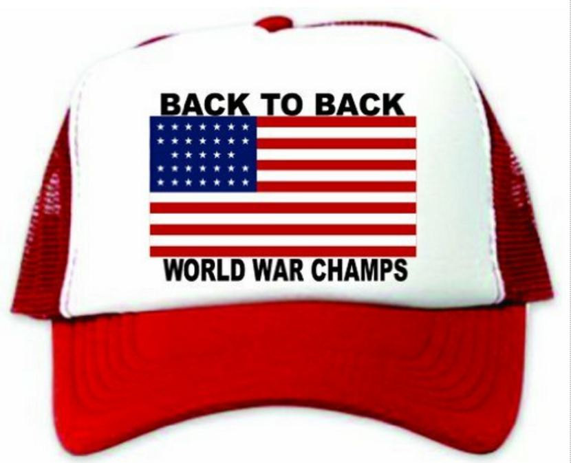 Back to Back World War Champs Hat / Cap